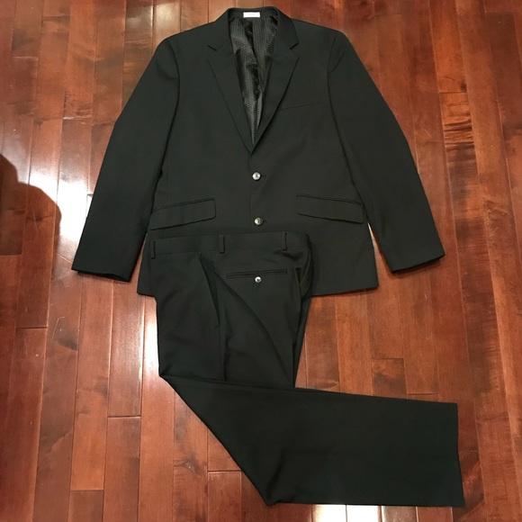 9e6f4be0ddd5 jf j.ferrar Other - JF J. Ferrar Slim Fit Black Classic Suit 44R